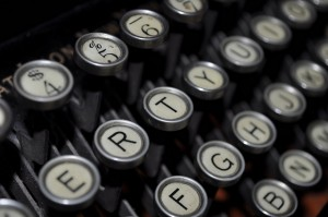 I learned to type in the class I mention here, too. And, yes, children, there were things called typewriters. And they weren't even electric! (Photo by Cast a Line via Twitter)
