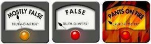 PolitiFact's Truth-O-Meter is clown makeup on a serious journalist. (Image from cleveland.com under fair-use standards)