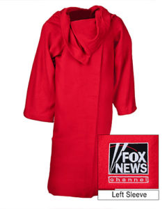 "Somewhat surprisingly, Fox News expects its viewers to wrap themselves in this ""TV blanket"" rather than, you know, the flag."